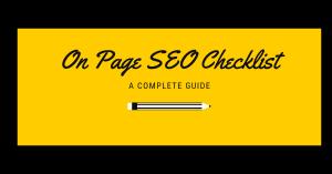 On Page SEO Checklist 2019